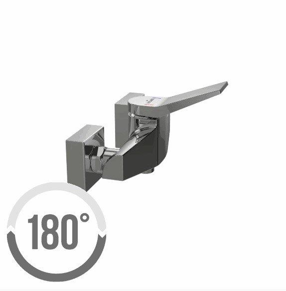 CERSANIT - Bateria natryskowa ścienna CROMO Solution S951-036