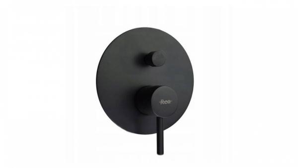 REA - Zestaw natryskowo - wannowy z wylewką LUNGO BLACK
