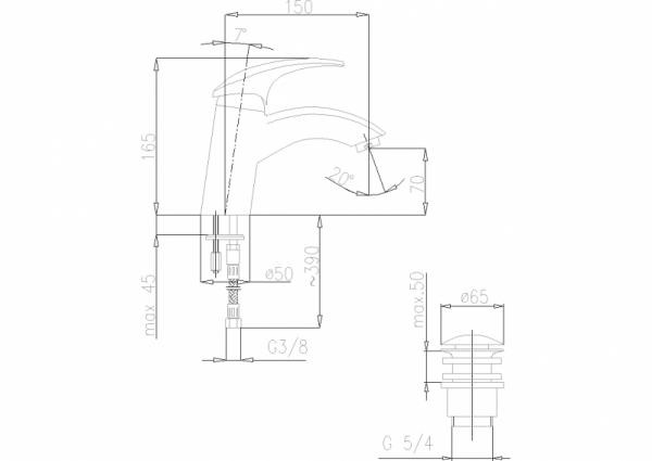 ARMATURA KRAKÓW - Ametyst bateria umywalkowa stojąca 402-815-00