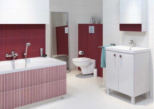 CERSANIT - Bateria umywalkowa stojąca z korkiem CARI Basic S951-040