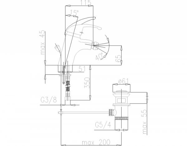 ARMATURA KRAKÓW - Piryt Bateria bidetowa 447-045-00