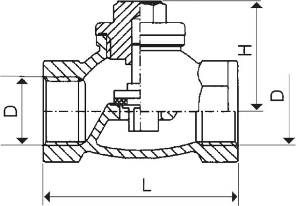 ARMATURA KRAKÓW - zawór zwrotny żeliwny do wody 192-010-25