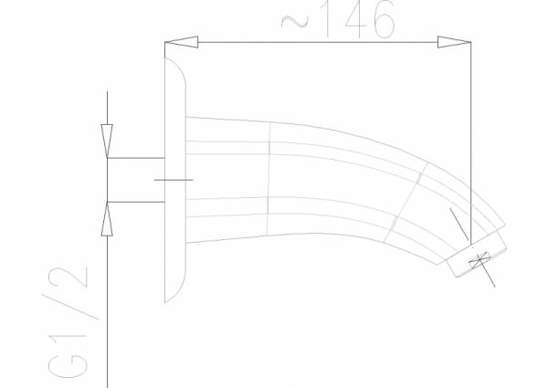 ARMATURA KRAKÓW - Ametyst wylot do baterii podtynkowej wannowej 836-001-00