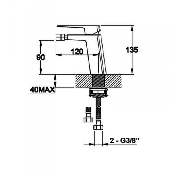 VEDO - bateria SETTE bidetowa VBS7002