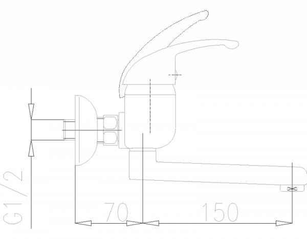 ARMATURA KRAKÓW - Piryt umywalkowa ścienna 440-840-00
