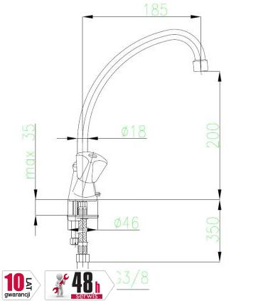 ARMATURA KRAKÓW - STANDARD bateria umywalkowa dwuuchwytowa 303-415-00