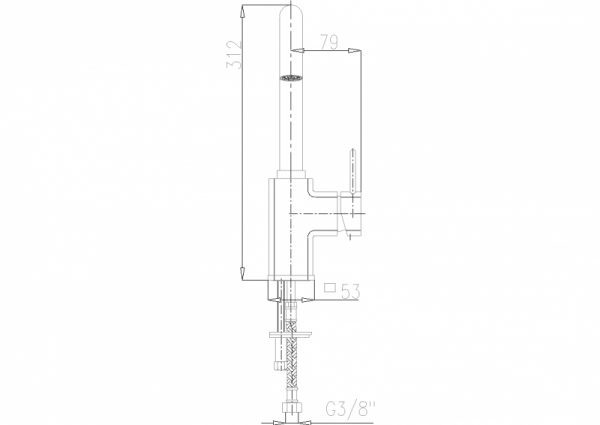 ARMATURA KRAKÓW - Brylant bateria umywalkowa stojąca (wylot L) 4303-715-00