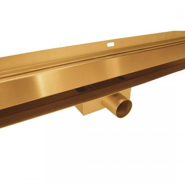 AQUALINE Odpływ liniowy ścienny złoty gold 2w1 pod płytkę 60cm S04GL600