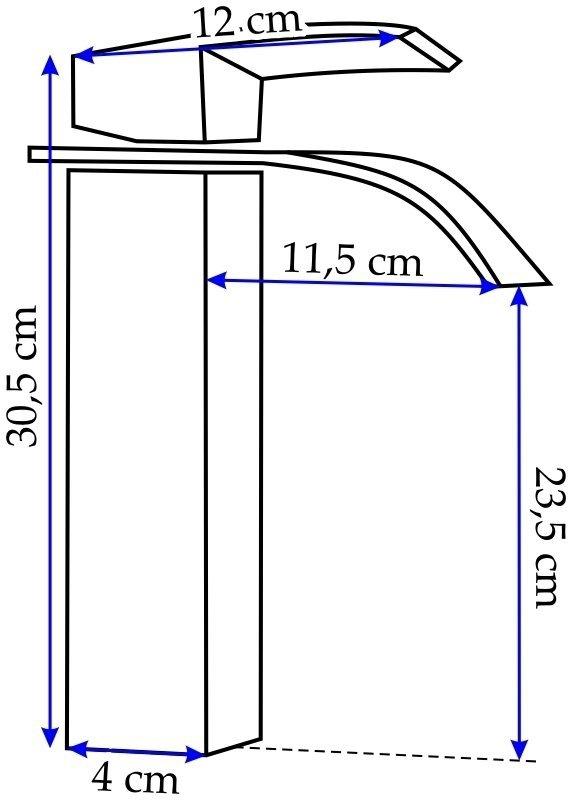 REA - Bateria umywalkowa FALCON 30 WYSOKA
