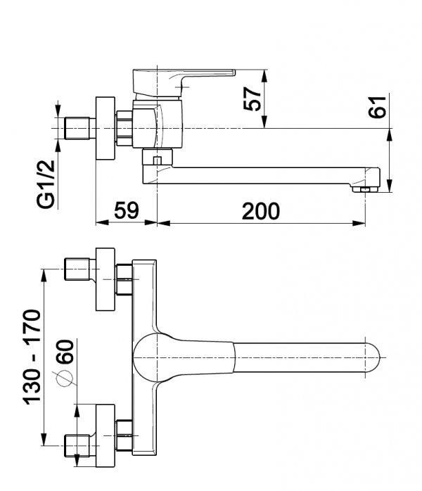 ARMATURA KRAKÓW - Bateria jednouchwytowa, zlewozmywakowa SELEN 4410-910-00