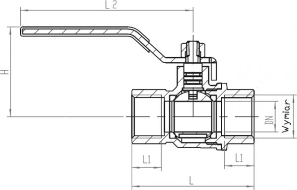 ARMATURA KRAKÓW - kurek kulowy do gazu, nakrętno-nakrętny z dźwignią 730-110-10