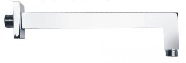 ARMATURA KRAKÓW - Ramię natrysku ściennego do głowicy natryskowej deszczownicy kwadratowe 25 cm 835-041-00-BL