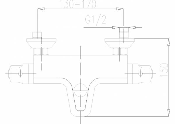 ARMATURA KRAKÓW - Classic bateria wannowa termostatyczna 574-010-00