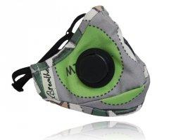 xBREATHE Green Cats Higieniczna Maska Przeciwpyłowa
