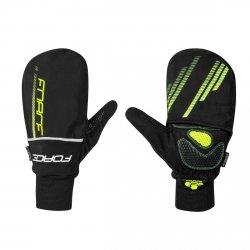 FORCE COVER rękawice zimowe rowerowe z pokrowcem