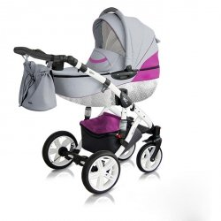Classico VIVA | Kombi Kinderwagen | Light Grey/ Pink| Kollektion 2018 | Alu Gestell | Carbon White