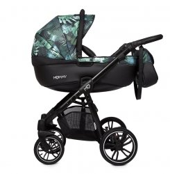Kombikinderwagen MOMMY | Jungle | Alu Gestell in schwarz