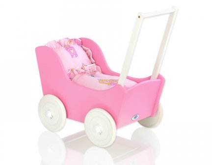 Sweet Dolly Puppenwagen, Prinzessin, Rosa 3-tlg.