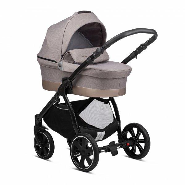 Noordi SOLE Go | Kombi-Kinderwagen 2 in 1 mit Liegewanne und Sportwagen | oder 3 in 1 mit Autoschale | Farbe: BEIGE
