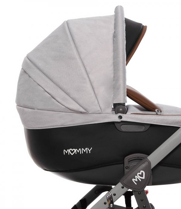 Kombikinderwagen MOMMY | Gray Star | Alu Gestell in grau