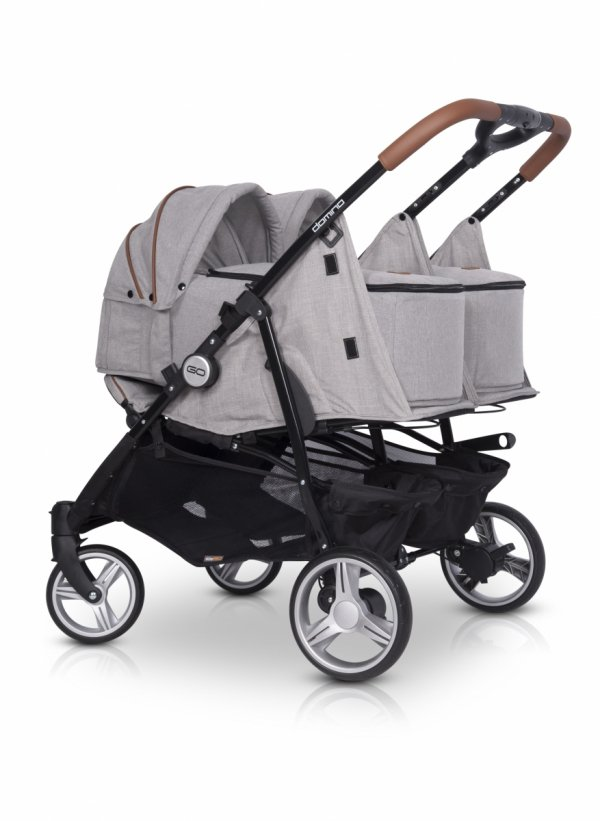 Zwillings-/ Geschwisterbuggy | Zwillingswagen TWIN DOMINO | Denim