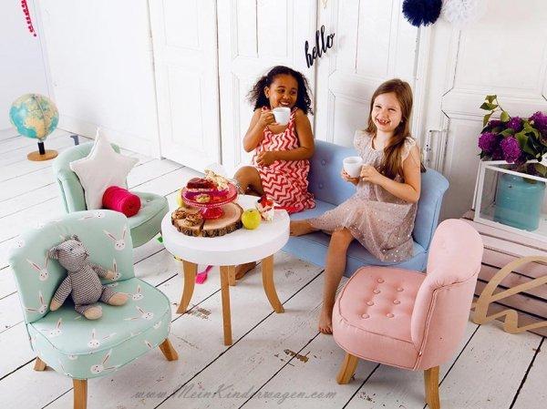 Somebunny Kindersofa | handgemacht & mitwachsend | Leinen | Mintgrün
