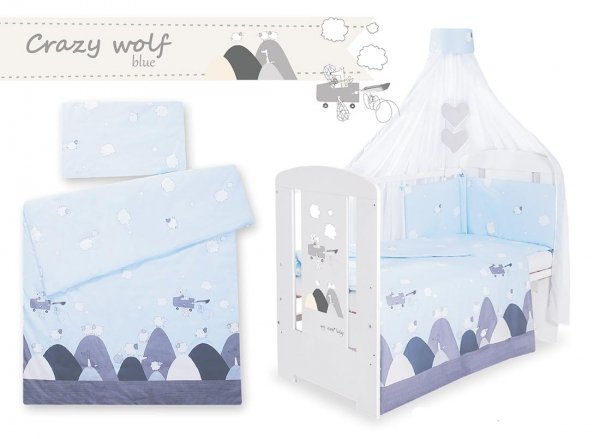Babybett | Gitterbett | Kinderbett SECRET FOREST GREY | Kiefer massiv | Weiß lackiert
