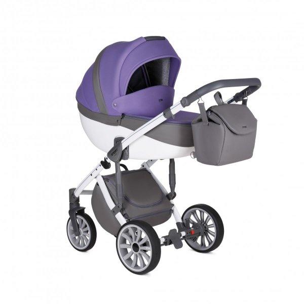 ANEX SPORT Ultra Violet | 2 in 1 mit Liegewanne und Sportwagen | oder 3 in 1 mit Autoschale | Kombi-Kinderwagen