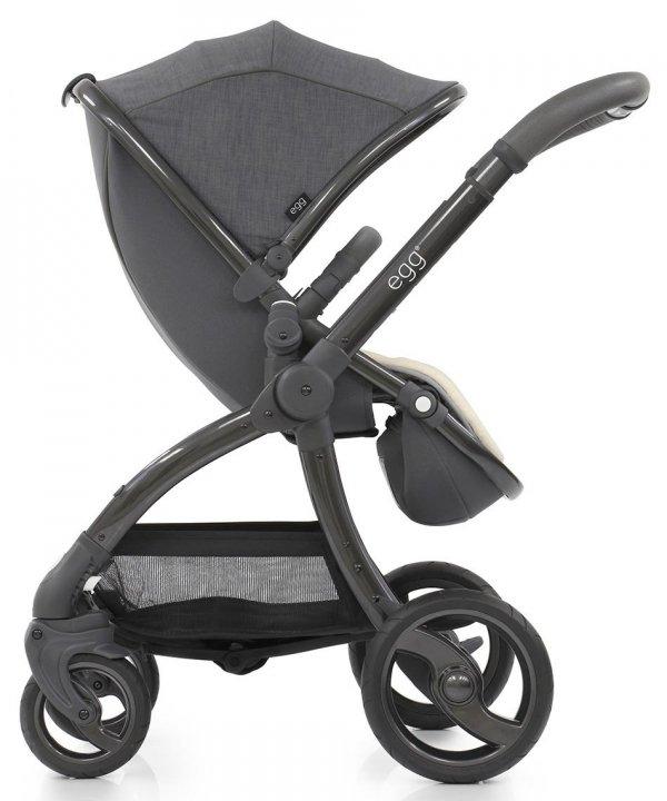Geschwisterwagen | Zwillingskinderwagen EGG Stroller | + 1 Liegewanne/ 2 Sportsitze + Sitzauflage gratis | BabyStyle | Quantum Grey