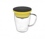 Kubek z zaparzaczem do kawy 350 ml PAO Duo Dripper (czarno-żółty)