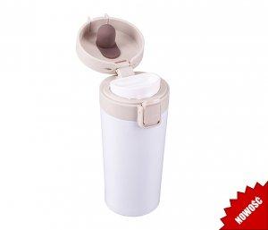 Kubek termiczny ENKI 350 ml szczelny z blokadą (biały)