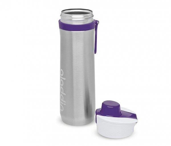 Bidon termiczny 600 ml Aladdin Active Hydration stalowy-fioletowy