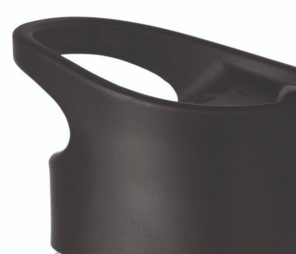 Kubek termiczny szklany 400 ml CLETEA bezbarwny/czarny