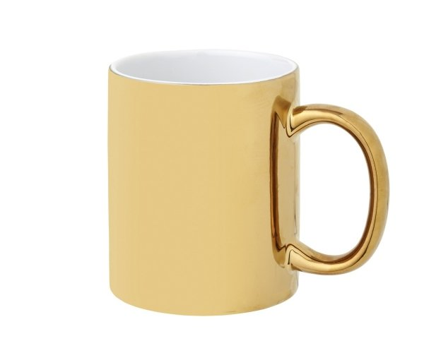 Kubek ceramiczny Chroma Gold 350 ml złoty