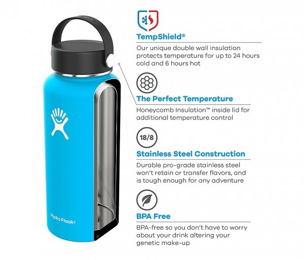 Termos Hydro Flask Wide Mouth 1900 ml (stalowy)
