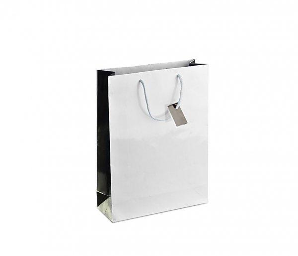 Torba prezentowa 18x24x7,5 cm HAPPY (biała)