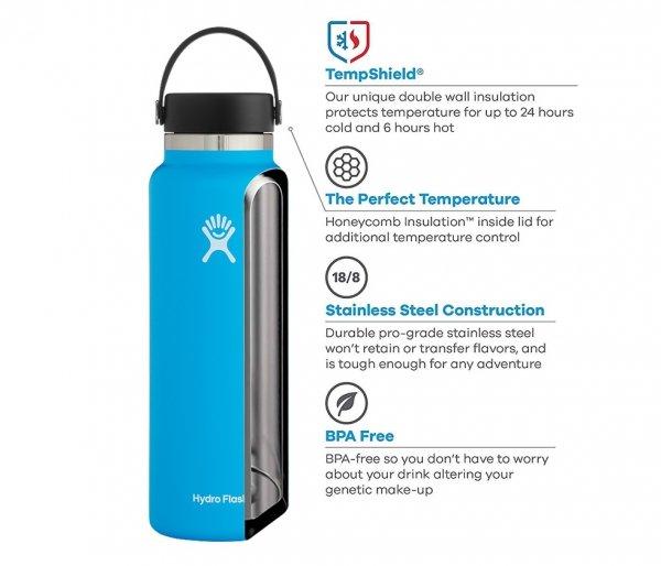 Termos Hydro Flask Wide Mouth 2.0 Flex Cap 1182 ml czarny