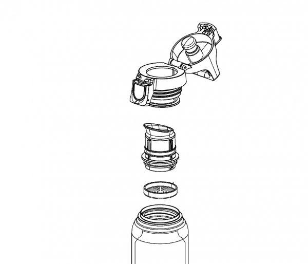 Korek przykrywka do butelki SIGG HOT&COLD ONE TOP czarny
