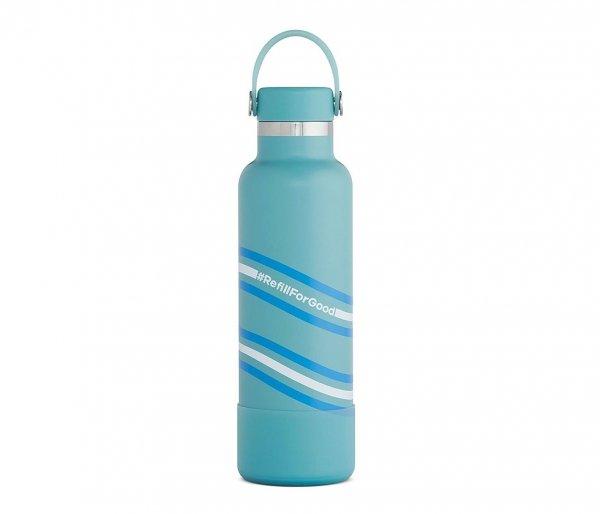 Butelka termiczna Hydro Flask 621 ml Flex Cap z podkładką Boot turkusowy Bayou #RefillForGood