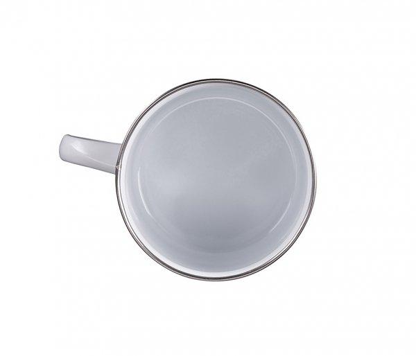 Kubek tradycyjny emaliowany 500 ml EMO z uchem biały