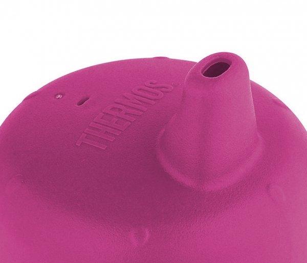 Termosik niemowlęcy Foogo z dodatkowymi ustnikami 290 ml różowy-stalowy