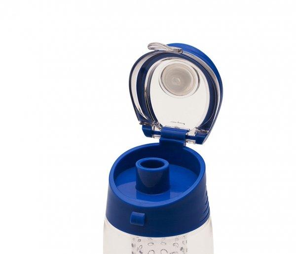 Bidon z koszykiem na owoce 700 ml FRESHER niebieski