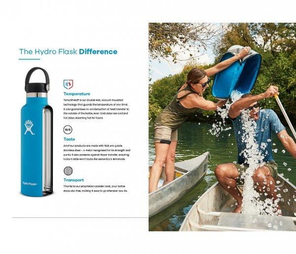 Butelka termiczna Hydro Flask 532 ml Standard Mouth Flex Cap biały vsco