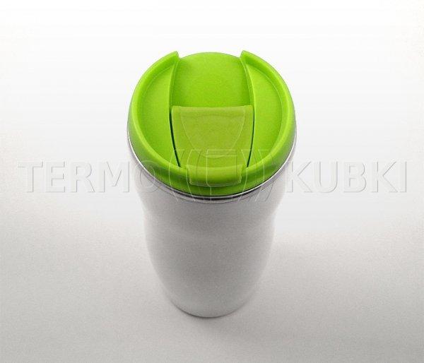 Kubek termiczny 350 ml LADY (biało-zielony)