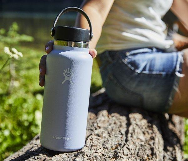 Termos Hydro Flask Wide Mouth 2.0 Flex Cap 946 ml stone - grafitowy vsco