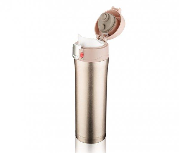 Kubek termiczny OUTER 440 ml K2 beżowy metalic
