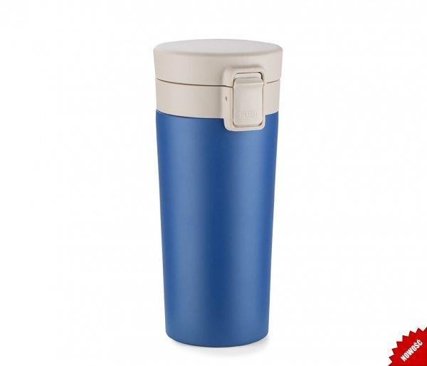 Kubek termiczny ENKI2 z sitkiem 350 ml szczelny z blokadą niebieski