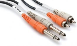 HOSA CPR 203 - KABEL TS 6,35 - 2 x RCA 3M