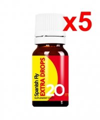 5x SPANISH FLY EXTRA DROPS 20ML