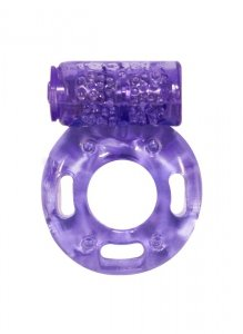 Cockring with vibration Rings Axle-pin purple